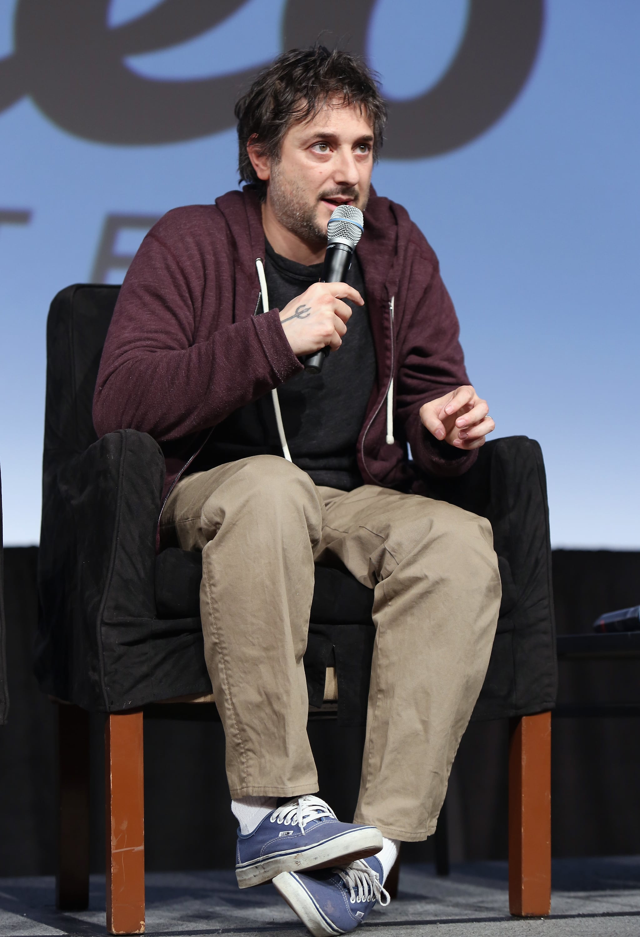 Harmony Korine went casual for the panel.