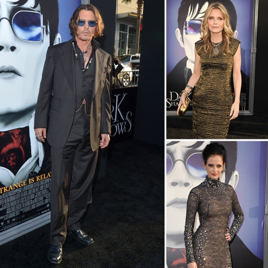 Johnny Depp Links Up With His Costars For a West Coast Dark Shadows Premiere