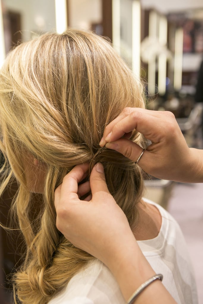 Once you have it in place, secure it with a bobby pin.
