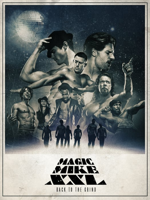 the star wars inspired poster the magic mike xxl posters. Black Bedroom Furniture Sets. Home Design Ideas