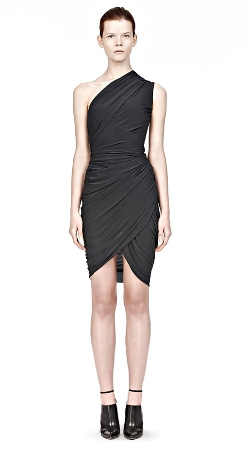 Our shoe rule makes sense —just try and envision this ruched, perfectly fitted Alexander Wang dress ($725) with flats: it just doesn't work.