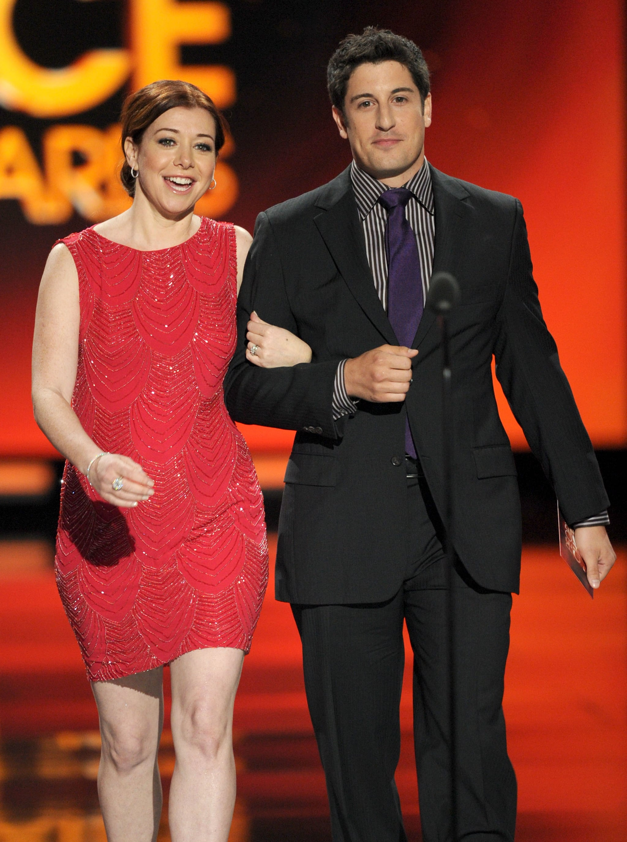 Alyson Hannigan and Jason Biggs