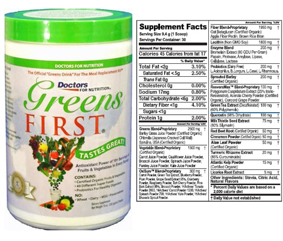 Get All Your Fruits and Vegetables With Greens First