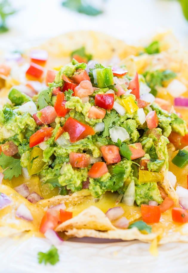 Loaded Guacamole Nachos
