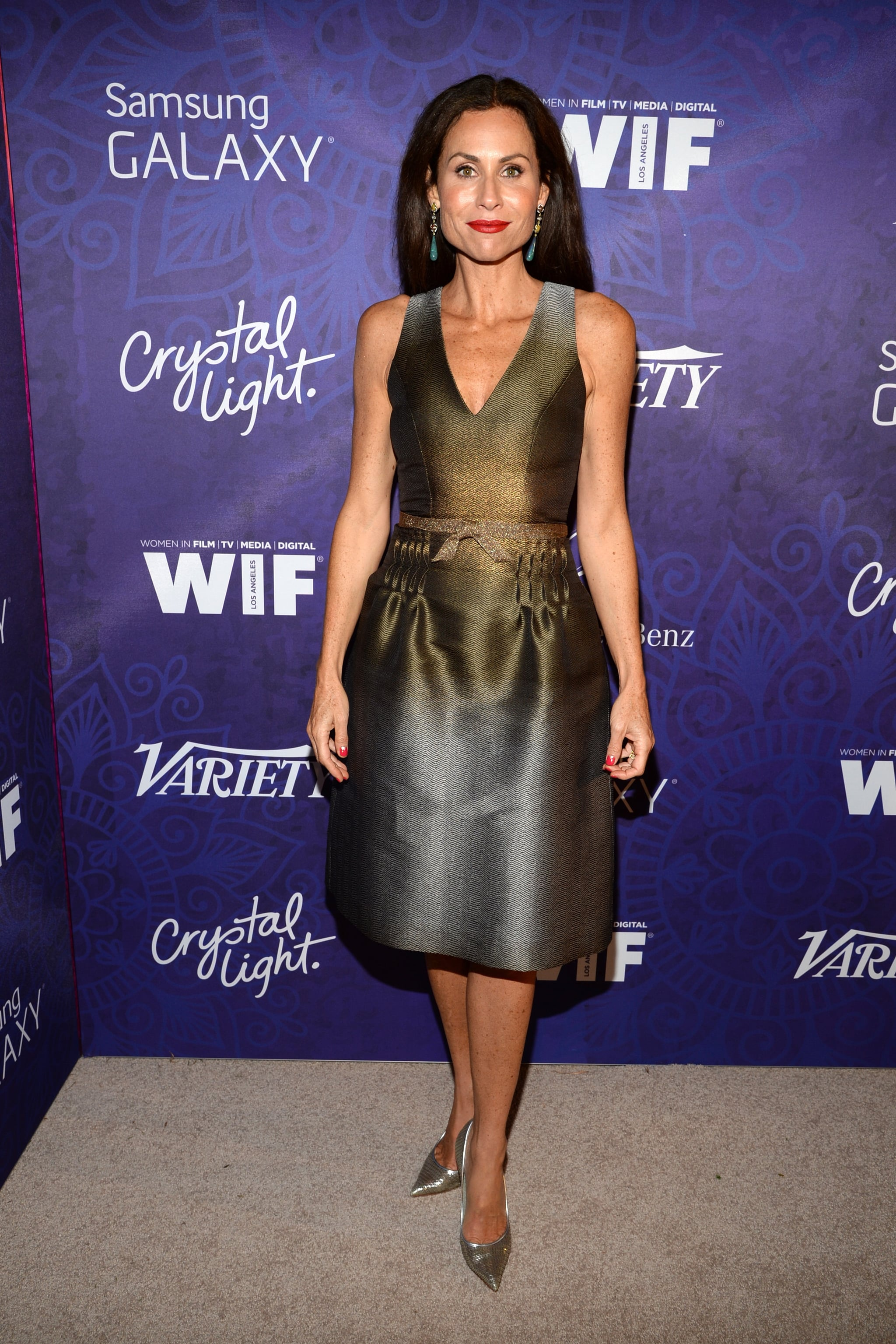 Minnie Driver dropped by Variety's party on Saturday.