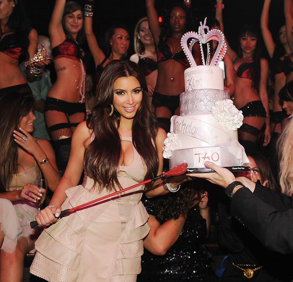 Kim Kardashian partied at Tao in Las Vegas.
