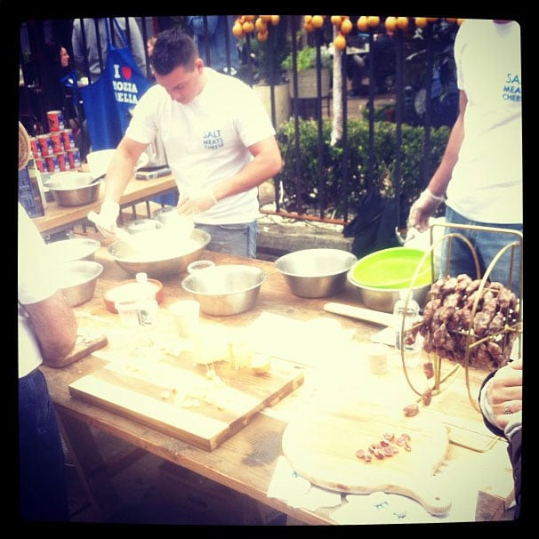 Local designer Michael Lo Sordo was front and centre at The Grounds in Sydney for a mozzarella masterclass!