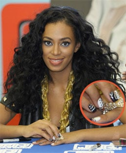 How-To: Solange Knowles's Polka-Dot Manicure