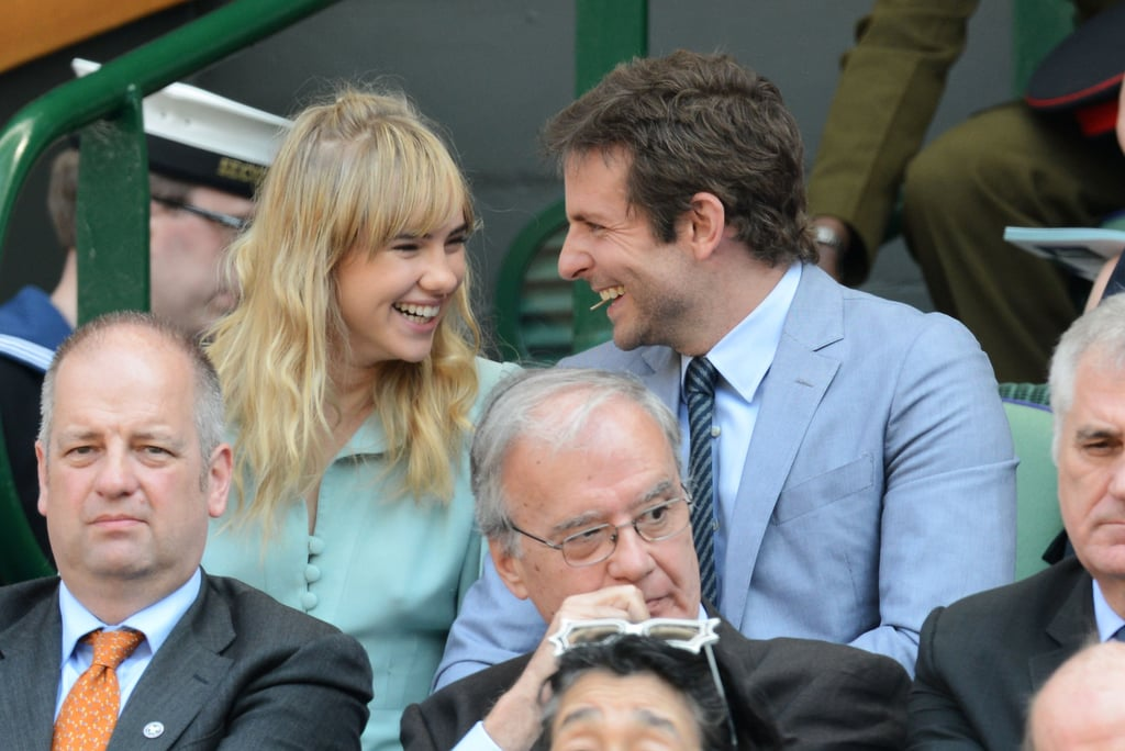 Also at the Wimbldeon on July 7? Bradley Cooper and his lovely girlfriend Suki Waterhouse.