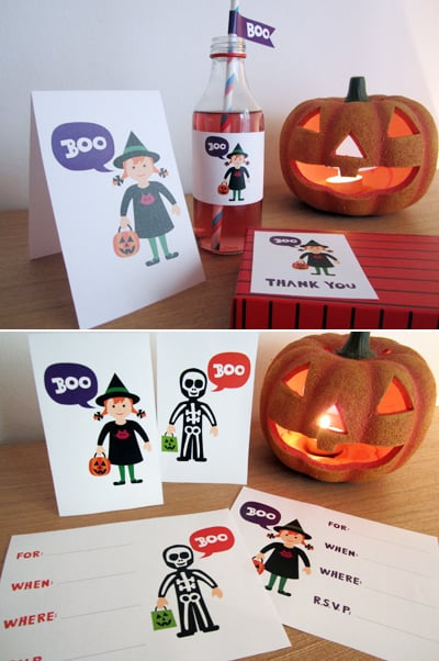 """""""Boo"""" Kiddie Halloween Party Printable Collection"""