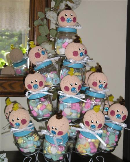 Upcycle Your Baby Food Jars Into Baby Shower Crafts
