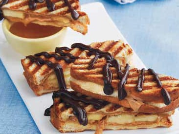 Grilled Peanut Butter Banana Fingers