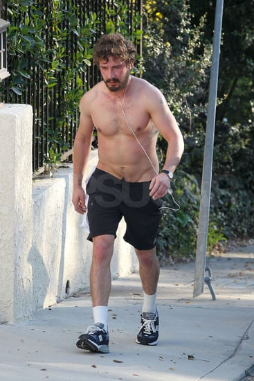 Pictures of Shia LaBeouf Running Shirtless in LA