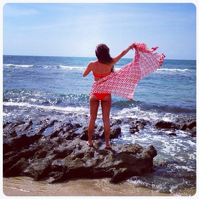 Lea Michele rocked a bikini while she lived it up in Hawaii. Source: Instagram user msleamichele