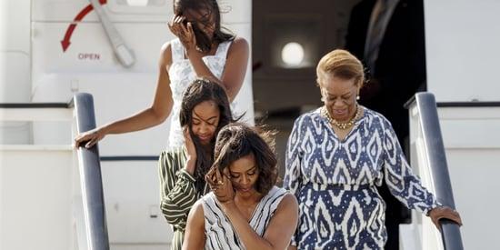 Malia, Sasha And Michelle Obama Are Matchy Matchy In Madrid