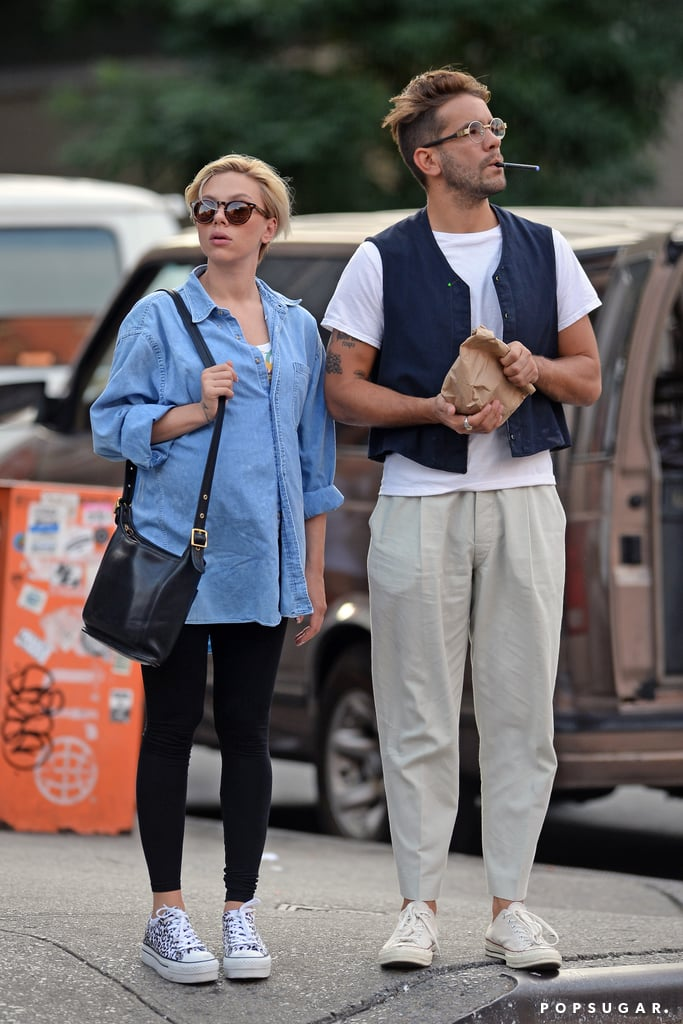 Scarlett Johansson Flaunts Her Growing Baby Bump on a Sweet Stroll