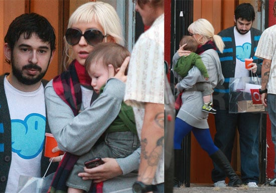 Photos of Christina Aguilera and Jordan Bratman Shopping With Max