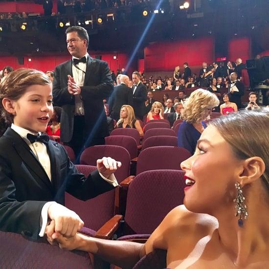 Sofia Vergara and Jacob Tremblay at the Oscars 2016