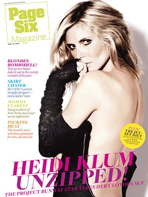 Photos of Heidi Klum on the Cover of Page Six Magazine