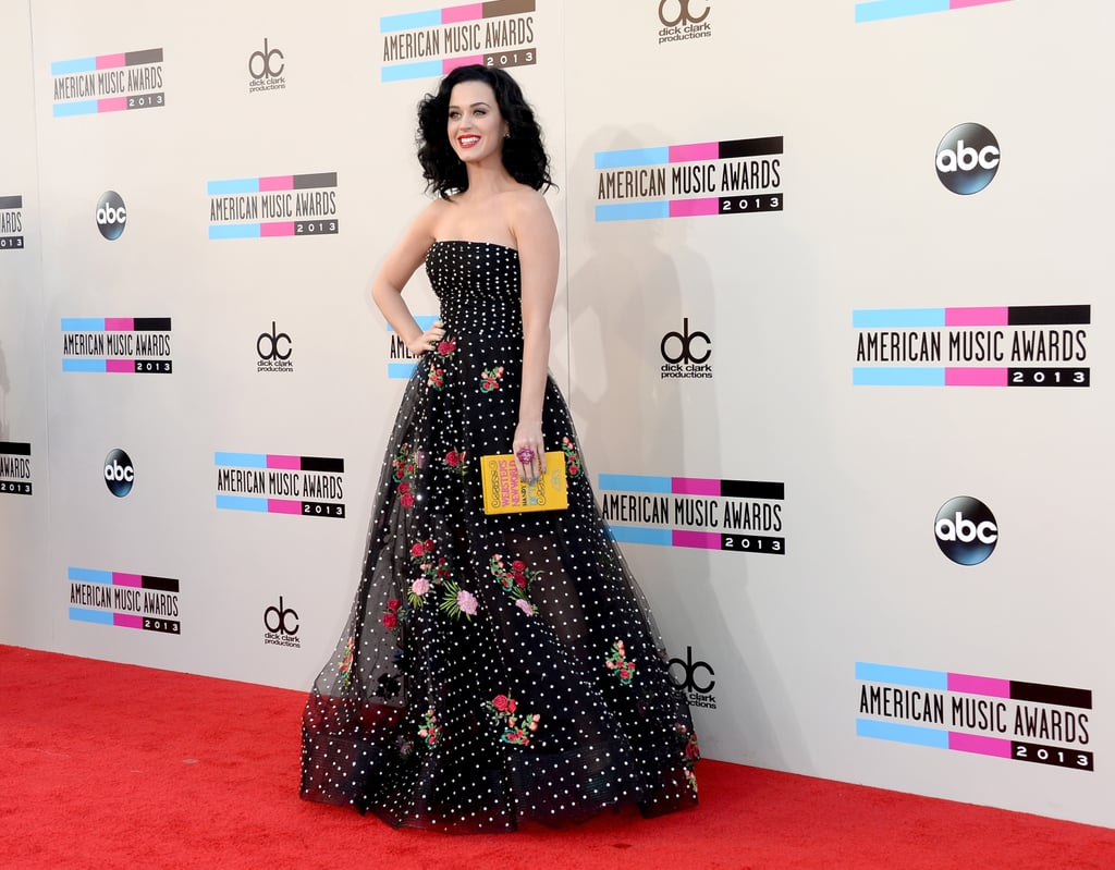 Katy Perry arrived at the 2013 American Music Awards.