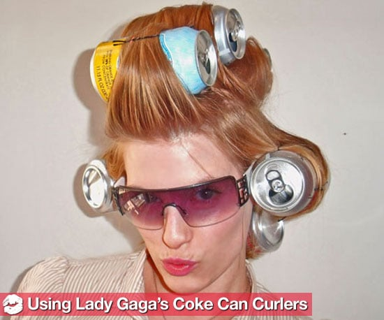 How to Use Coke Can as Curlers Like Gaga