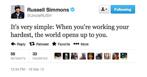 Russell Simmons gives it to us straight.