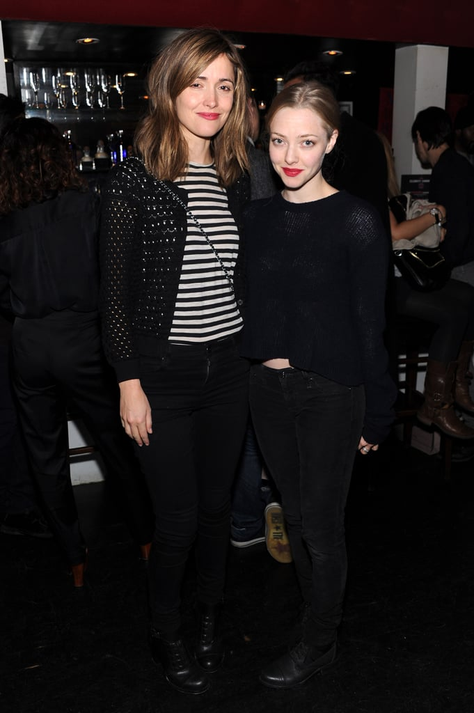 Rose Byrne and Amanda Seyfried were photographed together.