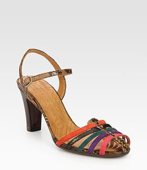 The multicolored straps and sweet silhouette have a fun retro sensibility. Add them to your midiskirts and fit-and-flare dresses to further the vibe.  Kandi Multicolored Suede & Leather Slingback Sandals ($90)
