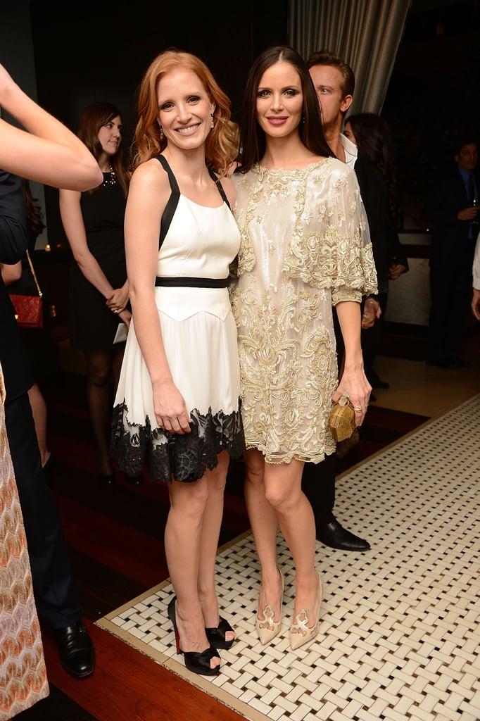 Jessica Chastain and Georgina Chapman
