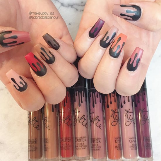 Kylie Lip Kit Nail Art