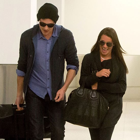 Lea Michele and Cory Monteith Arrive at LAX | Pictures