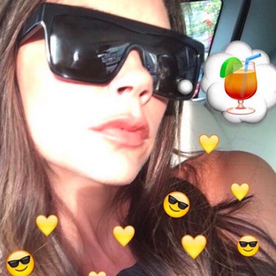 Victoria Beckham's Rainbow Sunglasses March 2016