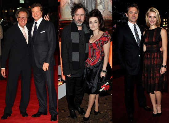 Pictures of Helena Bonham Carter, Tim Burton, Colin Firth, Geoffrey Rush, Claire Danes at The King's Speech LFF Premiere