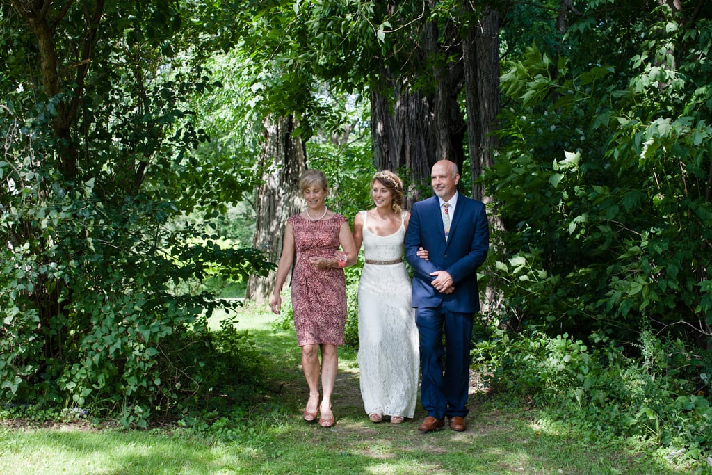 """""""The ceremony was my favorite part because it was officiated by one of our best friends, it was short and sweet, and it represented us to a T,"""" Amy noted. Source: Evangeline Lane Photography"""