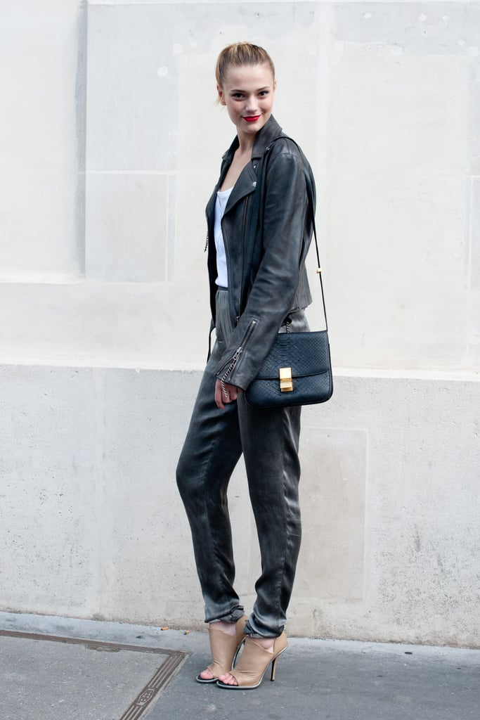 This styler remains cool with easy proportions and awesome footwear.