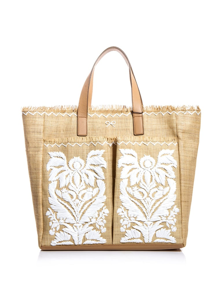 Anya Hindmarch's Nevis Embroidered Straw Bag ($704) will come in handy for toting your magazines and water bottle to the beach or carrying souvenirs during your sightseeing adventures.