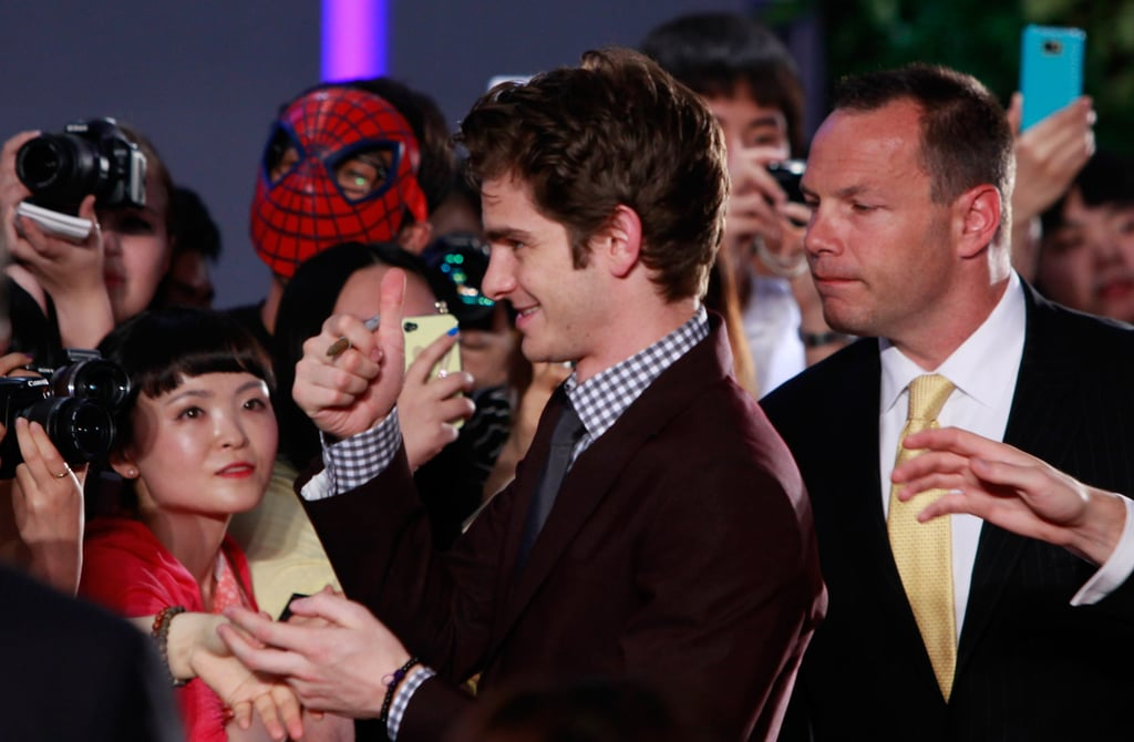 Fans went wild for Andrew Garfield.
