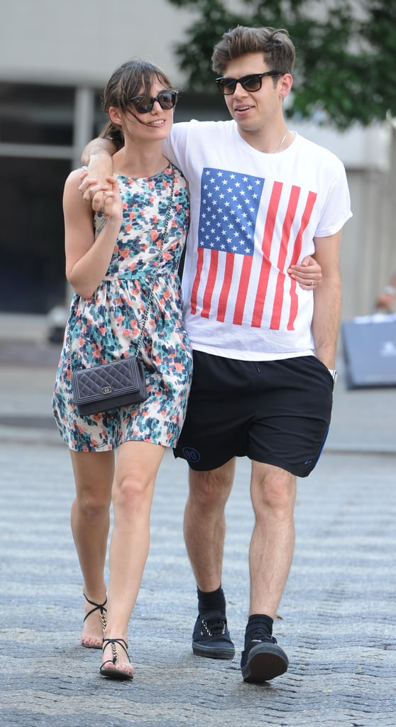 Keira Knightley and fiancé James Righton cuddled in New York City this week.