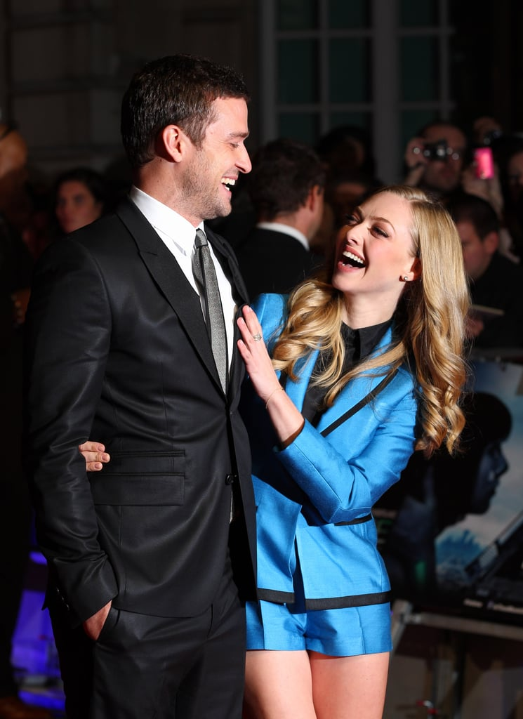Justin Timberlake hit the red carpet with his In Time costar Amanda Seyfried at the film's UK premiere in October 2011.