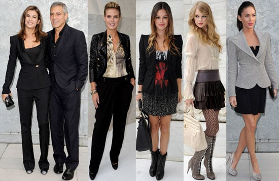Pictures of Taylor Swift, George Clooney, Rachel Bilson, Megan Fox and More at 2011 Spring Milan Fashion Week