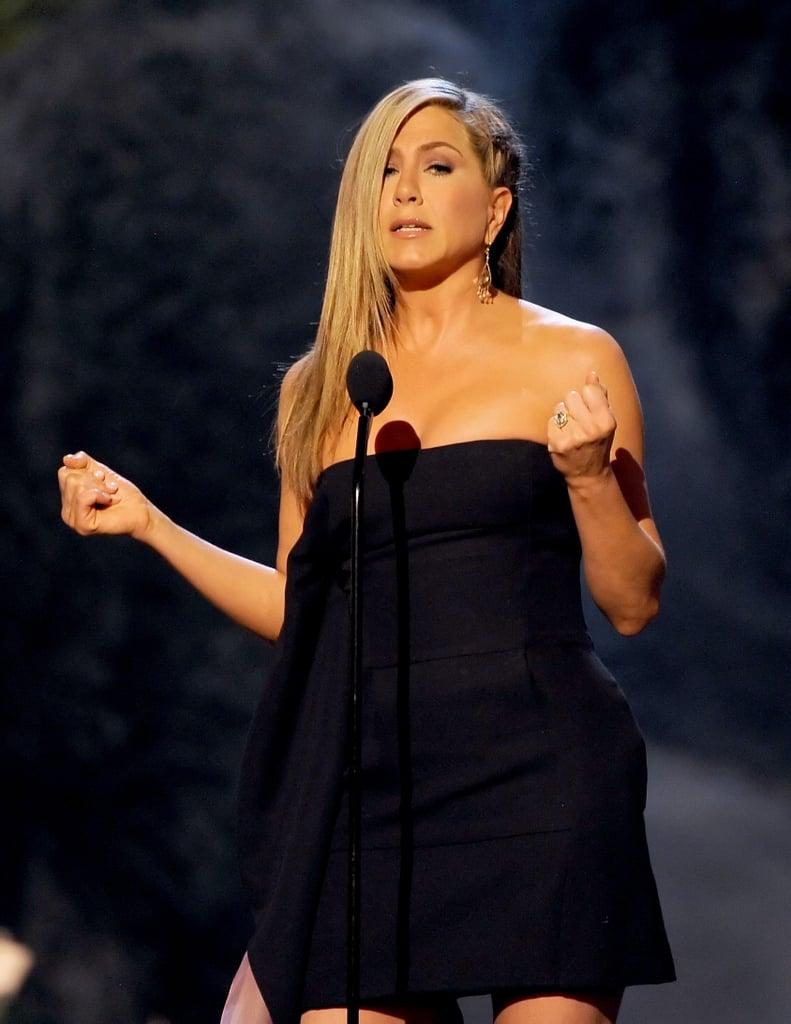 Jennifer Aniston introduced Jimmy Kimmel.