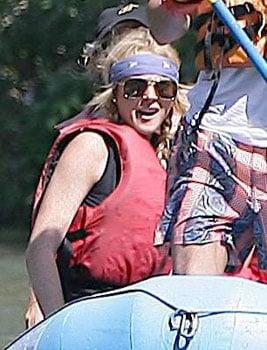 Lindsay Lohan Braves The Rehab River Wild