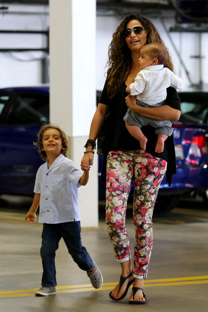 Camila Alves walked with her sons.