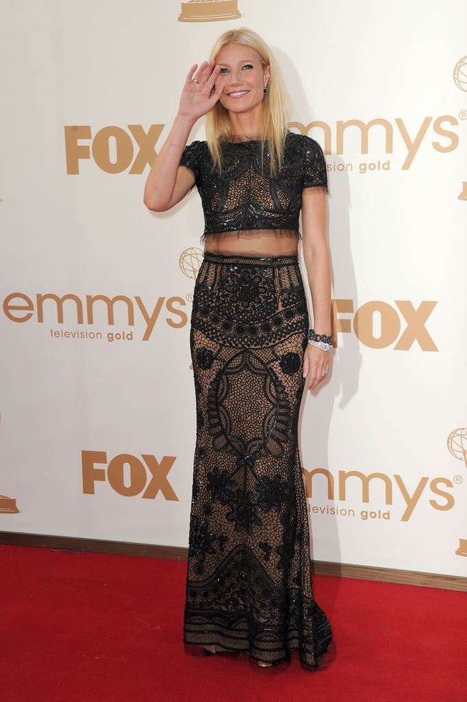 Gwyneth Paltrow wore a midriff-baring Pucci dress to the 2011 Emmy Awards.