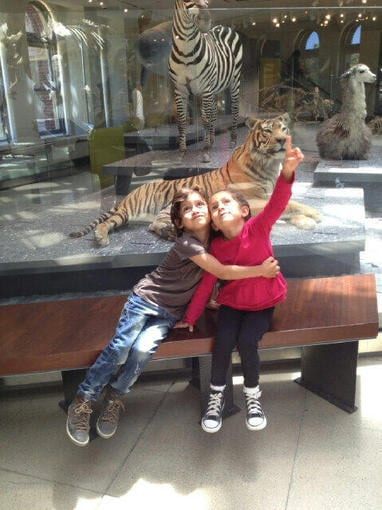 Jennifer Lopez shared this sweet snap of her kids, Max and Emme, while checking out animals. Source: Twitter user JLo