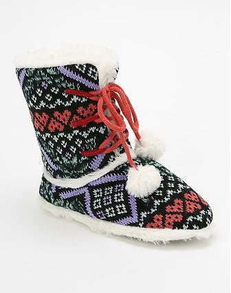 Urban Outfitters Fairisle Slipper