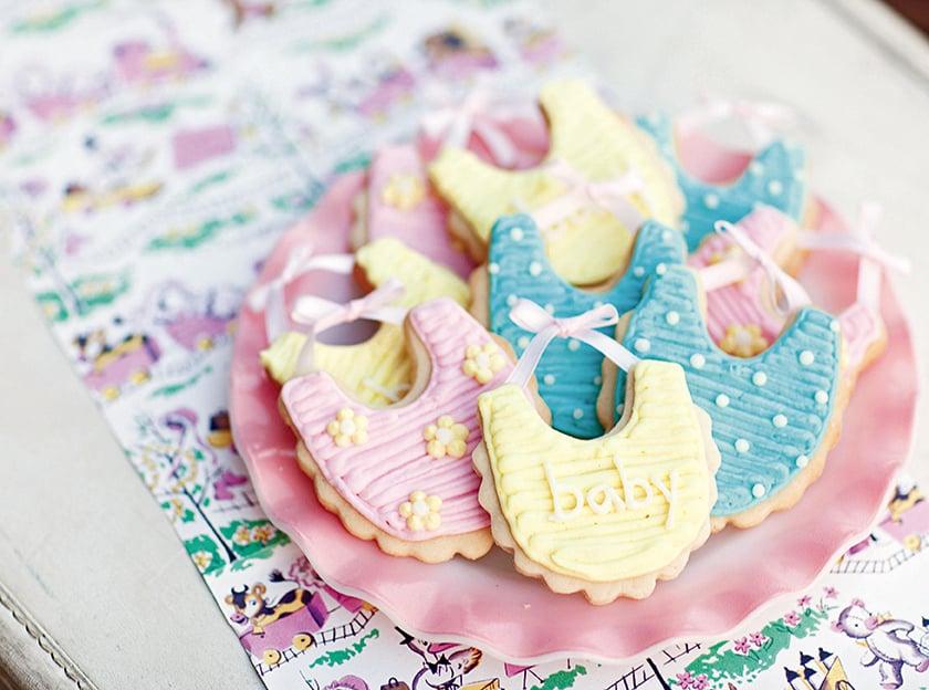 Baby Bib Cookies