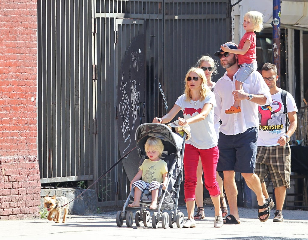 Naomi and Liev Share a Family Fun Day With Sasha, Samuel, and Their Little Dog