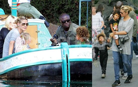 Photos of Heidi Klum, Seal, Jonah Samuels, Henry Samuels, Leni Klum at Disneyland