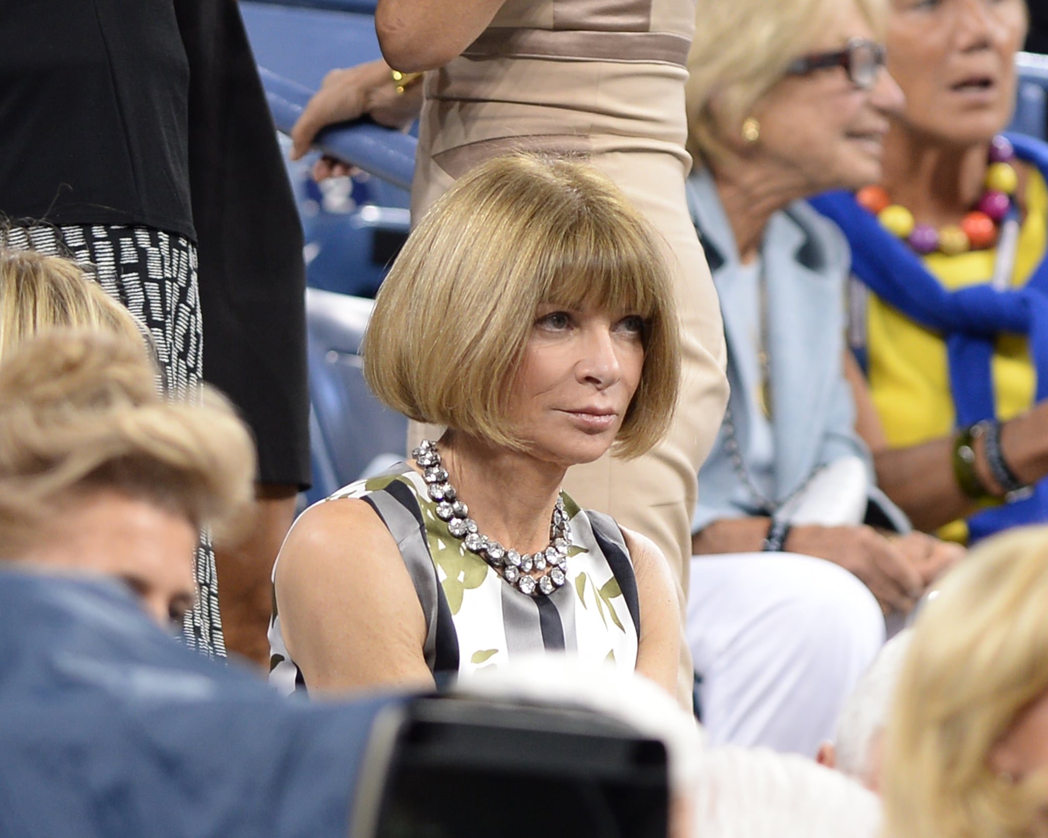 Anna Wintour was on hand for a match during day one of the festivities.